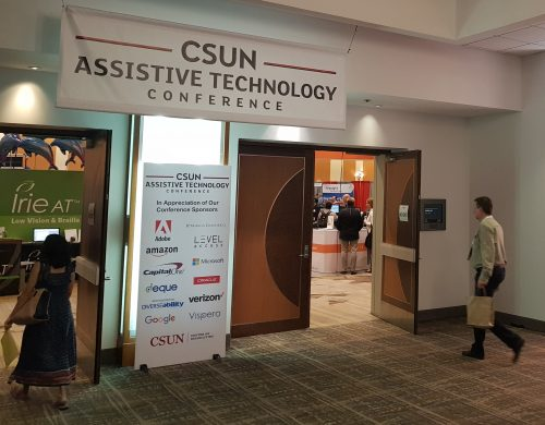 Entrance to the area of CSUN AT Conference